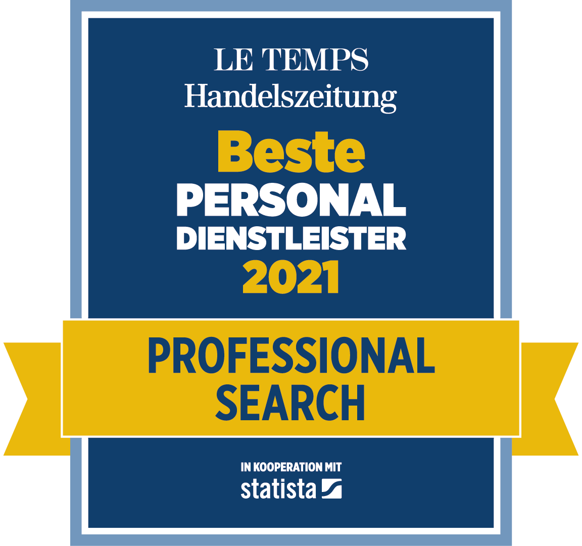 Beste Personaldienstleister 2021 - Professional Search